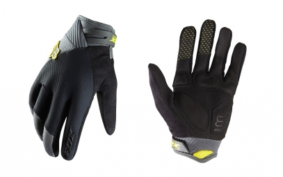 FOX Paire de Gants longs Reflex Gel Charcoal