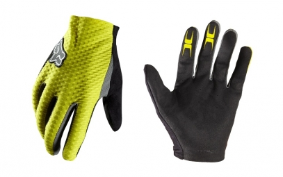 FOX Paire de Gants longs Attack Jaune
