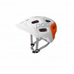 casque poc trabec race blanc orange xl xxl 59 62 cm