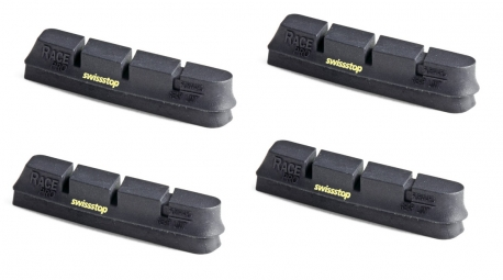 X4 cartouches de patins de freins swisstop race pro black prince jantes carbone camp