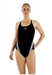 speedo maillot de bain femme monogram muscleback endurance noir 46