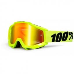 100 masque accuri fluo jaune ecran iridium rouge adulte