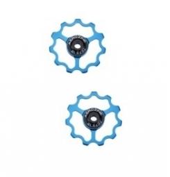 AEROZINE Paire de galets 9-10 Vitesses Bleu