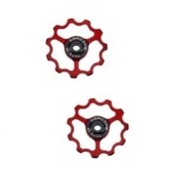 Aerozine paire de galets 9 10 vitesses rouge