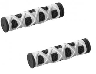 ritchey paire de grips pro grid noir blanc
