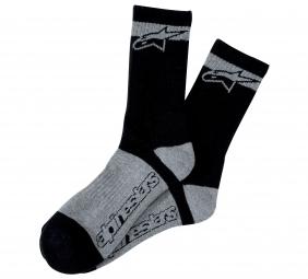 alpinestars paire de chaussettes montantes kamikaze noir gris 42 43
