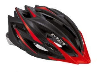 Casco Met HERO Negro Rojo