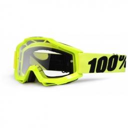 100 masque accuri jaune fluo ecran transparent adulte