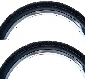 FLYBIKES Pack pneus Ruben RAMPERA 2,35 + 2,35 Noir