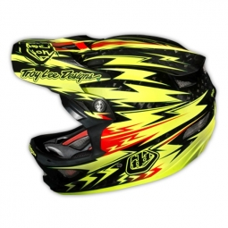 TROY LEE DESIGNS 2014 HELMET D3 Carbon THUNDER YELLOW