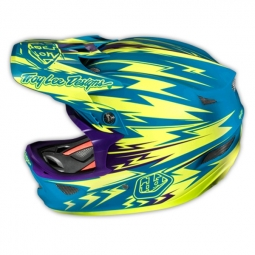 TROY LEE DESIGNS 2014 Helmet D3 Composite THUNDER Turquoise Yellow