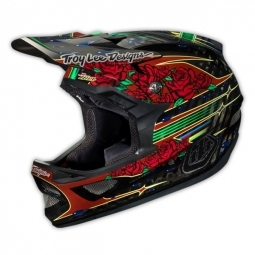Casco integral Troy Lee Designs D3 SAM HILL Negro