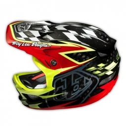 Casque intégral Troy Lee Designs D3 Carbone TEAM RED Rouge Noir Jaune