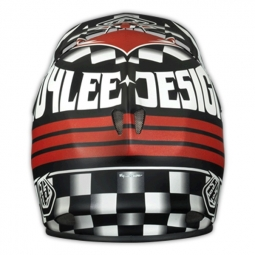 Casco integral Troy Lee Designs D2 ACE MAT Negro Rojo