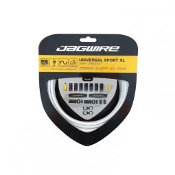 jagwire kit de cables et gaines pour derailleurs universal sport shift blanc