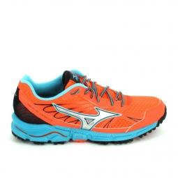 Chaussure de runningrando trail mizuno daichi f orange bleu 38