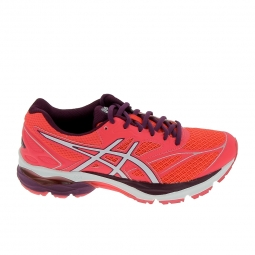 Chaussure de runningrunning asics gel pulse 8 rose blanc 37