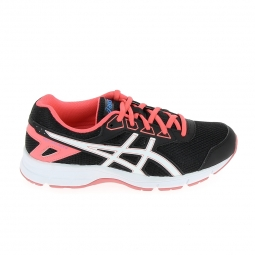 Chaussure de running asics gel galaxy 9 jr noir rose