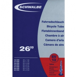 SCHWALBE Bicycle Tube 26'' From 26x1.50 to 26x2.40 Presta Valve