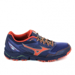 Chaussure de runningrando trail mizuno wave daichi 2 bleu fonce 42
