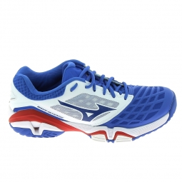Chaussure de tennistennis multisports mizuno wave intense tour 3 ac bleu blanc 44