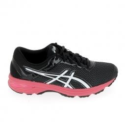 Chaussure de running asics gt 1000 6 gs jr noir rose 38