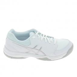 Chaussure de tennistennis multisports asics gel dedicate 5 blanc argent 38