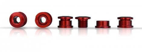 ICE Set of 5 Chainring bolt R-BOLT 6.5 mm Red