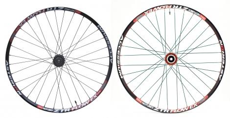 ASTERION 2013 Paire de roues FLOW EX 27.5´´ axes 15 mm / 9 mm Noir