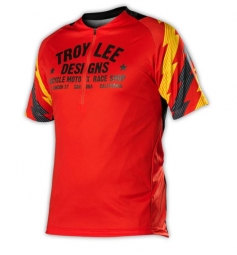 troy lee designs manches courtes ace rouge s