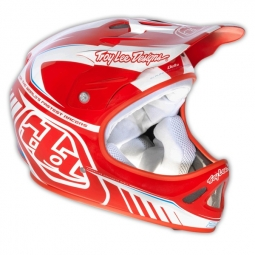 Casco integral Troy Lee Designs D2 DELTA Blanco Rojo
