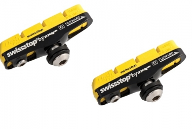 Swisstop paire de patins full flash pro yellow king jantes carbone sram shimano