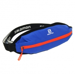 Ceinture de running salomon agile single belt bleu taille unique