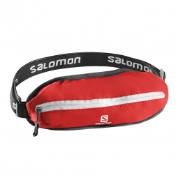Ceinture de running salomon agile single belt rouge taille unique