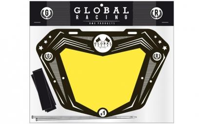 GLOBAL RACING Plaque de Numéro PRO Noir