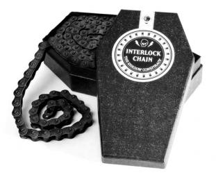 SHADOW Chaine demi maillon 1/8 INTERLOCK V2 Noir