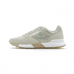 Baskets basses le coq sportif omega x w striped sock sparkly beige 36