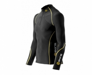 skins maillot compression a200 thermal noir homme s