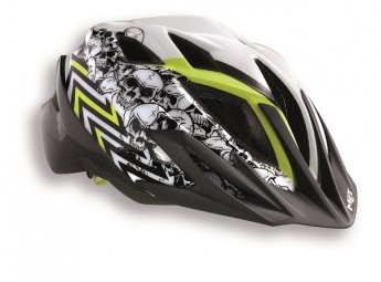 MET 2014 Helmet CRACKERJACK Skull White yellow