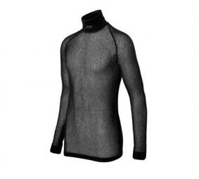 BRYNJEC Long sleeve Jersey High neck SUPER THERMO Black