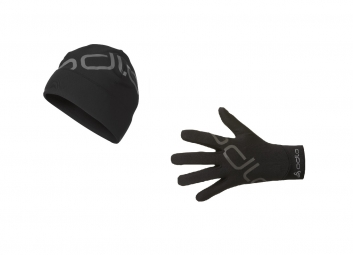 ODLO Pack INTENSITY Bonnet + Gant Noir