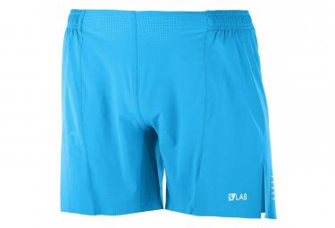 Short Salomon S/LAB short 6' Transcend Bleu