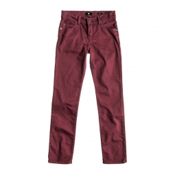 Pantalon dc shoes slim overdyed rouge 28