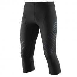 Collant de running salomon endurance 3 4 tight m noir s