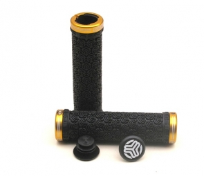 SB3 Paire de grips LOGO + Lock on Noir Or