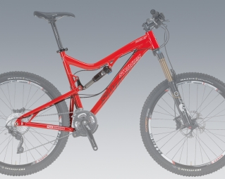 SANTA CRUZ 2013 Frame Blur LT 2 - 26'' + Rear Shock FOX CTD Kashima Red