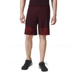 Short adidas performance crazytrain graphic short homme rouge m