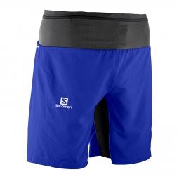 Short de running Salomon Trail Runner Twinskin Short Bleu