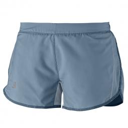 Short de running salomon agile short w bleu l