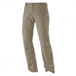 Pantalon léger de randonnée Salomon Elemental Pant W Beige